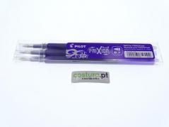 Pack de 3 recargas esfer. clicker Pilot Frixion 0.7mm ( Sai com vapor ) - Roxo