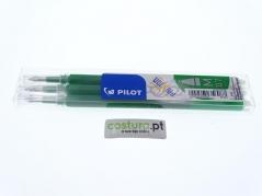 Pack de 3 recargas esfer. clicker Pilot Frixion 0.7mm ( Sai com vapor ) - Verde