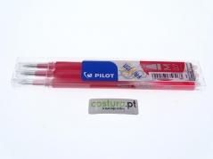 Pack de 3 recargas esfer. clicker Pilot Frixion 0.7mm ( Sai com vapor ) - Vermelho