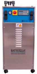 Gerador de vapor de 2 ferros Battistela Saturno/V ECO Mod.2009 - 4 bar, em inox, com caldeira de 7 lt e deposito de plástico para agua de 10 lt