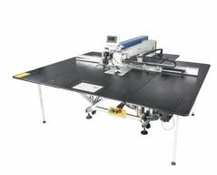 Maquina de costuras programaveis Jack MS-90A-80SXY-F11 com campo de 1400×800mm e corte por laser integrado e tecnologia IOT 4.0