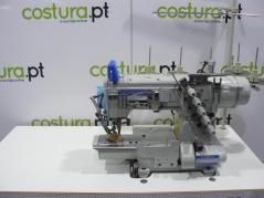 Maquina de recobrimento Kingtex Mod.CTD9000-0-356M/UCP-B1  3Ag. com corte de linha superior e inferior, tampo e bancada nacional
