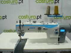 Maquina de costuras Jack JK-2060GHC-4Q, com tampo bancada e motor