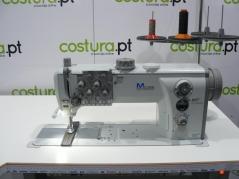 Maquina de costura triplo arrasto de 2 agulhas Durkopp Adler 867-290122 E21/8 com motor Efka DC1550-DA321G