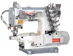 Maquina de costura Siruba U007-W122- 356/UTT/DSKH1-1, com motor servo, tampo e bancada nacional