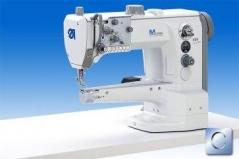 Maquina de costura triplo arrasto Durkopp Adler 669-180112 E 3/6 com motor efka DC1550 - DA321G, tampo e bancada nacional