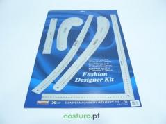 Conjunto de reguas modelismo FASHION DESIGNER KIT - Aluminio