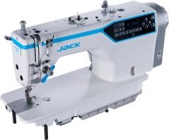 Maquina de costura ponto preso Jack A7, com remate limpo, com motor servo, tampo e bancada
