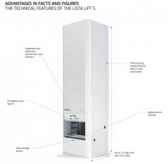 Sistema de armazenagem vertical Lista Lift S