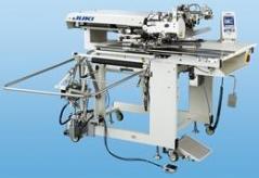 Maquina de costura de meter bibos/Bolsos JUKI APW 896NS-12ZR2K - 24mm com empilhador SP-46N, rolo extrator SP-47N